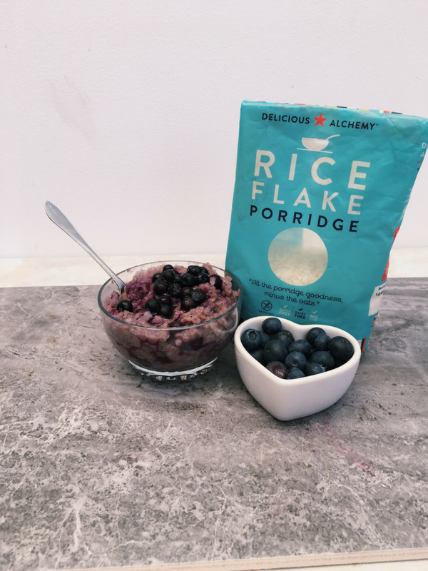 cinnamon blueberry rice pudding
