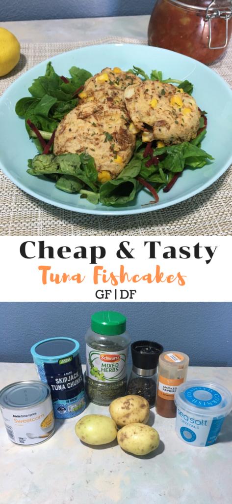 tuna fishcakes with ingredients