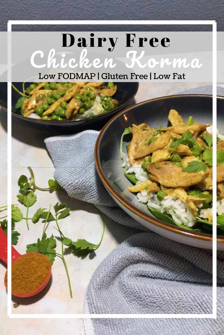 Dairy Free Chicken Korma (Low Fat & Low FODMAP)