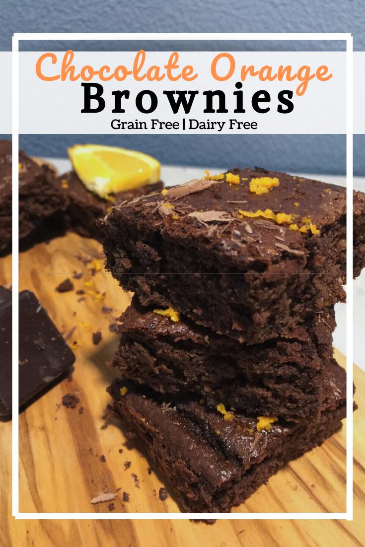 Chocolate Orange Brownies (Grain Free, Dairy Free)
