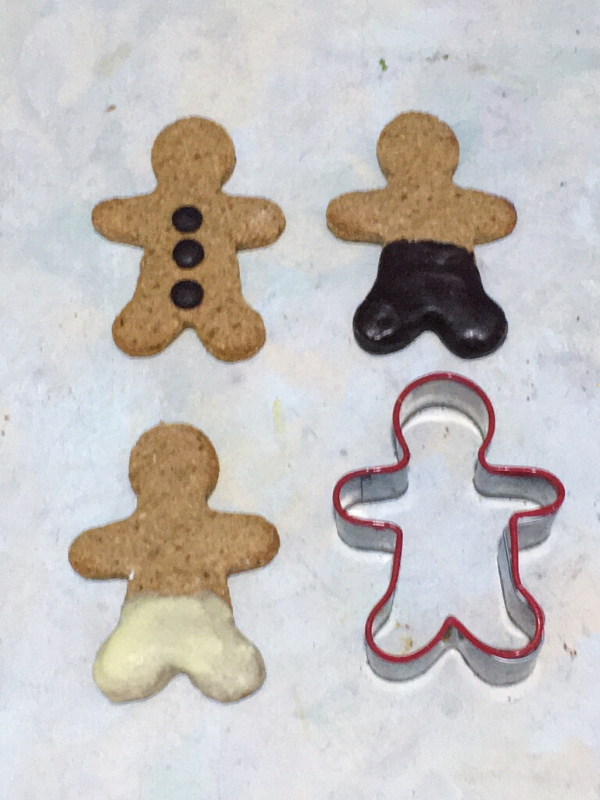 chocolate dipped gingerbread men