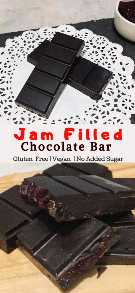 jam filled chocolate bar