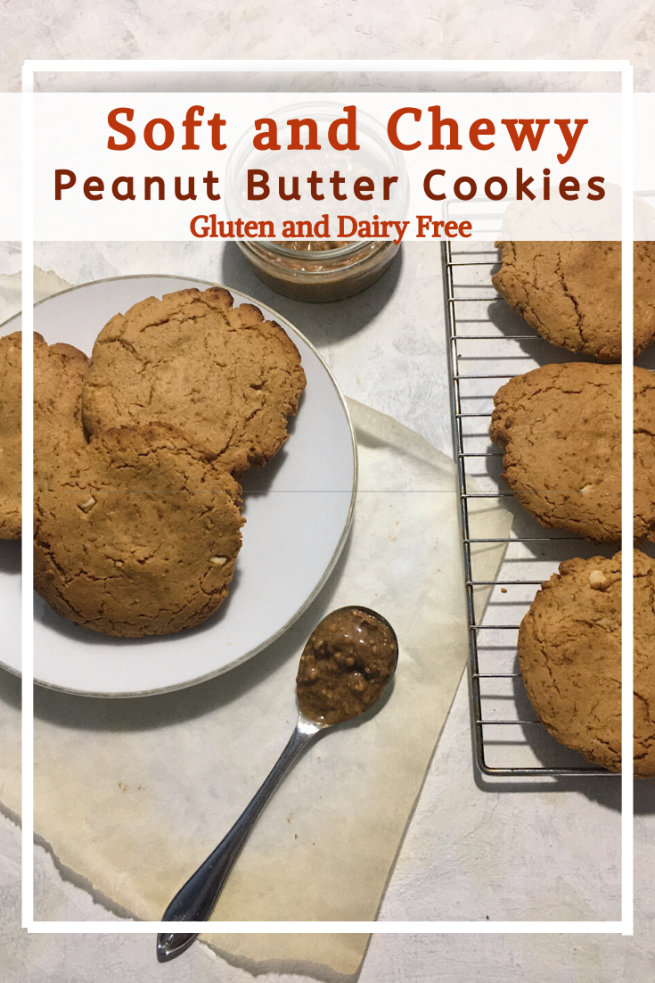 Soft Chewy Peanut Butter Cookies (GF, DF)