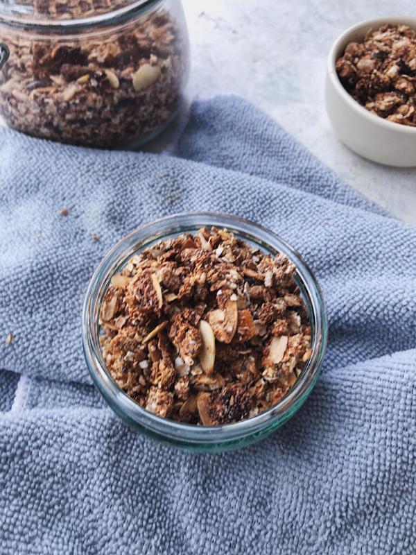 little bowl of granola
