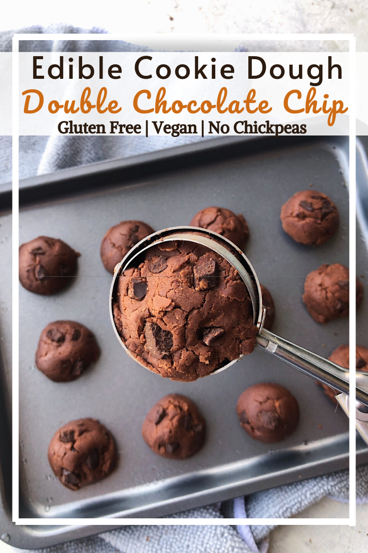 Double Chocolate Chip Edible Cookie Dough (GF, VG, No chickpeas)